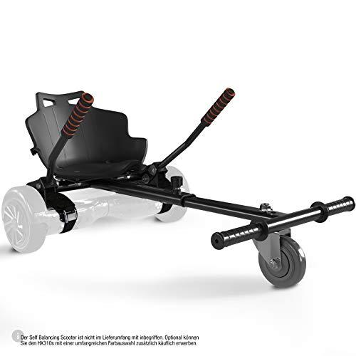 Bluewheel Sitzscooter HK200 Kart Sitz Erweiterung für 6, 5-10 Zoll Self Balance Scooter, Hover, E-Kart, Kart,Elektro Go-Kart, Sitzaufsatz, Schalensitz & Umbausatz, anpassbarer Stahl-Rahmen (HK200)