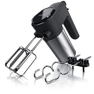 Arendo-Edelstahl-Handmixer-400W-Elektrischer-Handruehrer-mit-7-Geschwindigkeiten-inkl-Turbofunktion-elektrischer-Puerierstab-Mixer-Set