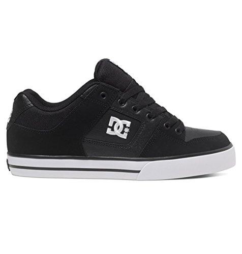 DC Men's Pure Skate Shoe, black/black/white, 10 D D US