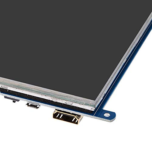 Richer-R 7 Zoll kapazitiver Touch Screen, HDMI LCD USB kapazitiver Touchscreen IPS Display,1024 x 600 Auflösung HDMI Schnittstelle Bildschirm(C) für Raspberry Pi 3B