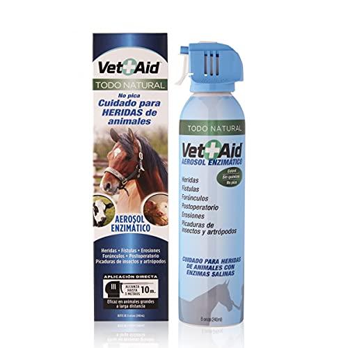 Spray cicatrizante y desinfectante para curación de heridas en perros, gatos y todo tipo de animales. Vet-Aid Spray 240 ml