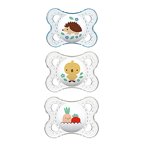 MAM Clear Collection Pacifiers Value Pack (3 Pack), MAM Pacifier 0-6...
