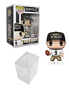 Pop Sports NFL Drew Brees New Orleans Saints SB Champions XLIV Vinyl Figure (Bundled with Pop Shield Protector)