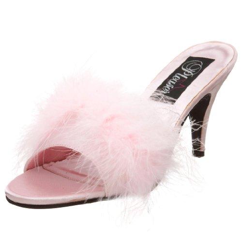 Fabulicious AMOUR-03 - Zuecos Mujer, - - B. Pink Satin-Fur, 35