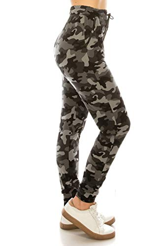 JGAX-R688-3X Army Game Print Jogger Pants w/Pockets, 3X