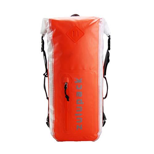 ZULU PACK Zulupack Backpack 25L Sac à Dos Etanche en Nylon Blaistique 420 D Orange pour Sport Aquatique et Randonnée 46X20X13 CM 25 L …