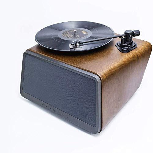 Bericht Seed Belt Drive Turntable, Bluetooth Vinyl Platenspeler Met 80W Output Stereo Speaker, RCA-Uitgang, Aux-Ingang, Walnut Wood, Stofkap NIET Inbegrepen