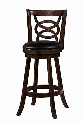 Coaster Home Furnishings CO- Swivel Bar Stool, Espresso & Black