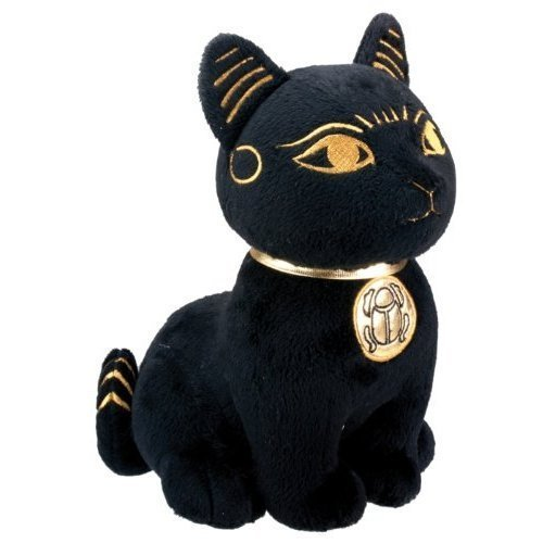 SUMMIT COLLECTION Black and Gold Ancient Egyptian Bastet Cat Kitty Plush Doll