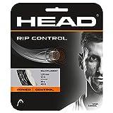 Head RIP Control Tennis Racket String 40' Set - 16 Gauge Multifilament Racquet String, Black