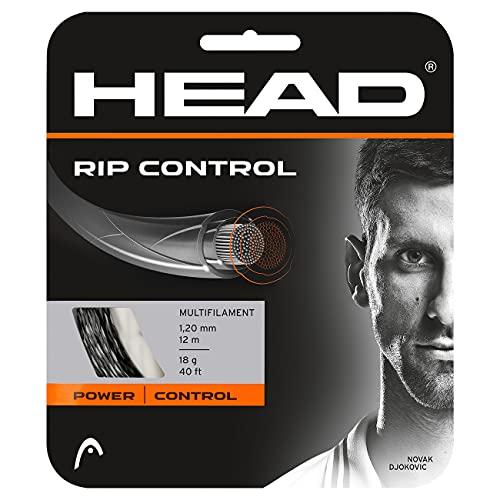 Head Rip Control Cordajes de Raquetas de Tenis, Adultos Unisex, Negro, 17