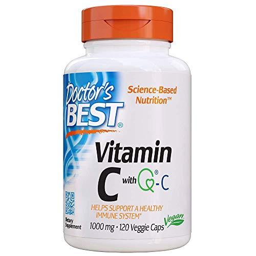 Doctor's Best, Vitamin C, mit Quali-C, 1.000 mg, hochdosiert, 120 vegane Kapseln, glutenfrei