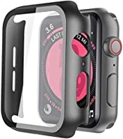 Piuellia Black Hard Case for Apple Watch SE/Series 6 / Series 5 / Series 4 44mm, iWatch Screen Protector PC Ultra-Thin...