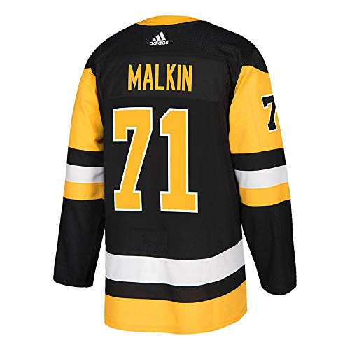 adidas Evgeni Malkin Pittsburgh Penguins NHL Men's Authentic Black Hockey Jersey