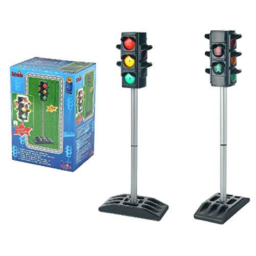 Theo Klein 2990 Ampel I Batteriebetriebene Verkehrssampel mit manuellem oder automatischem Ampelzyklus I Maße: 27 cm x 12,5 cm x 72,5 cm hoch I Spielzeug für Kinder ab 3 Jahren