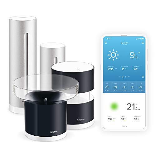 Set Netatmo Smarte Wetterstation + Regenmesser + Windmesser + WLAN + Funk + Innen- und Außensensor + Amazon Alexa