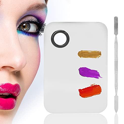 01 Paleta de Mezcla, Paleta de Mezcla de Maquillaje Conveniente para Mujer para Mezclar lápiz Labial líquido, Pintura al óleo