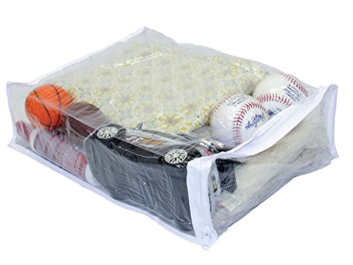 """Oreh Homewares Heavy Duty Vinyl Zippered Closet Storage Bags (Clear) for Sweaters, Blankets, Comforters, Bedding Sets and Much More! (11"""" x 15"""" x 4"""") 2.9 Gallon 8-Pack"""