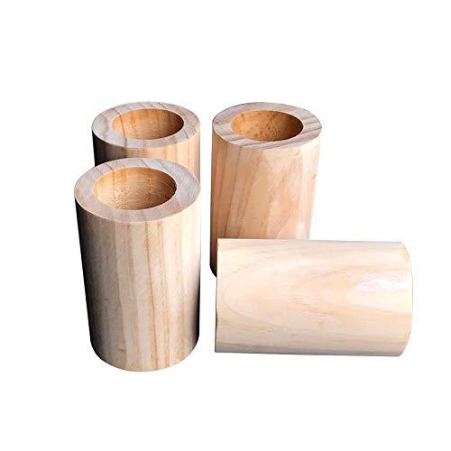 Möbelhöhe, Holz, Bettgurte, Betterhöhung, Möbelerhöhungs-Set, Hubhöhe (10Cm), Innendurchmesser Der Nut (6,5Cm), 4 Stück