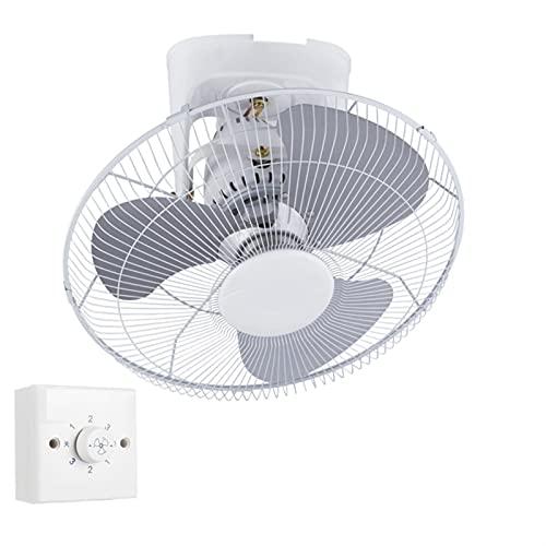 WJY 16 Pulgadas Ventilador de Pared con Regulador de Velocidad, 3 Velocidades de Ventilación, 360° Oscilante/Giratorio Ventilador Eléctrico