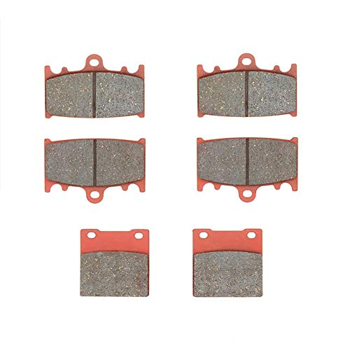 MEXITAL Bremsbeläge Vorne + Hinten für ZXR 400 (89-90)/ZXR 400 R ZX 400 (91-94)/ZXR 750 ZX 750 Ninja ZX-7 ZX-7R (89-95)/ZZR 1100 ZX 1100 (93-01)/ZZR 1200 (ZX 1200 C) (02-04)