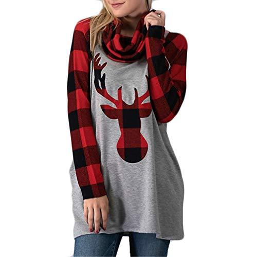 DOKER - Sudadera con Cuello Redondo para Mujer, diseño de Reno