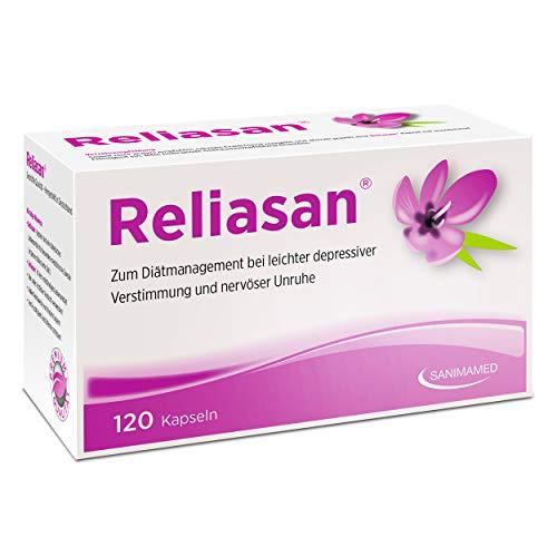 RELIASAN Natürlicher Stimmungsaufheller I Hochdosiert aus Safran I Hergestellt in Deutschland & Vegan (120 Kapseln)