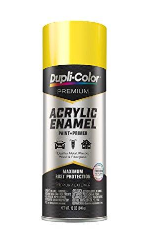 Dupli-Color-11300 Chrome Yellow (Hot Rod Color) Premium Acrylic Enamel Spray Paint , 12 oz