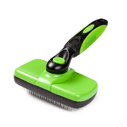Cepillo para perros fácil de limpiar, cepillo para mascotas, pelo largo, mediano, corto, grueso, ondulado o rizado, cepillo para el cuidado de mascotas