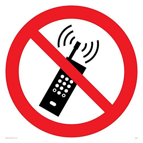 Viking signos pv54-s40-ac teléfono móvil prohibido símbolo Sign, compuesto de aluminio, 400mm H x 400mm W