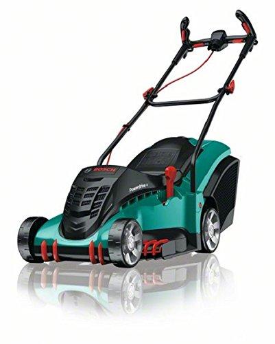 Bosch Rotak 43, tosaerba (serbatoio per erba da 50 litri, 1800W, sistema ErgoFlex, larghezza di taglio: 43cm, altezza di taglio: 20-70 mm)