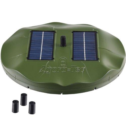 Agora-Tec® at-1.8W Solar Teichpumpe 1,8 Watt Hmax.: 155l/h Fontainenhöhe: 0,50m für Gartenteich oder Springbrunnen