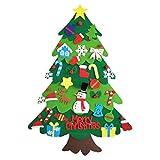 Hergon Set de árbol de Navidad de fieltro, regalo de Navidad para niños, decoración de pared para puerta de Año Nuevo