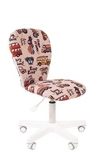 CHAIRJet Silla de escritorio infantil con ruedas, altura regulable, 80 kg, reposabrazos y acolchado práctico, 105 (autobús, sin reposabrazos)