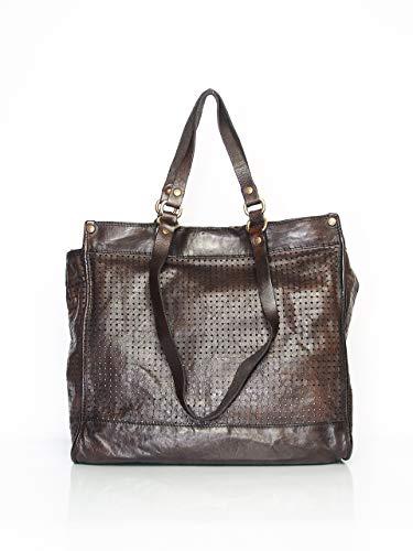 Campomaggi Shopper-Tasche Grau (Grau/Braun)