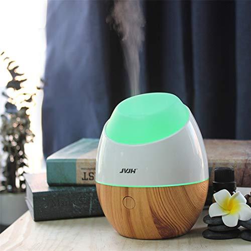 Difusor de Aceite Esencial USB, JVJH Difusor de Aroma Portátil de 120 ml, Purificador de Aire de 7 Colores, Con Función de Protección Contra la Escasez de Agua, Para el Hogar y la Oficina (M)
