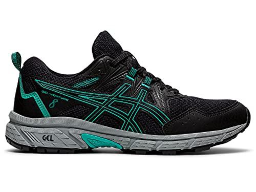 ASICS Women's Gel-Venture 8 Running Shoes, 8, Black/Baltic Jewel