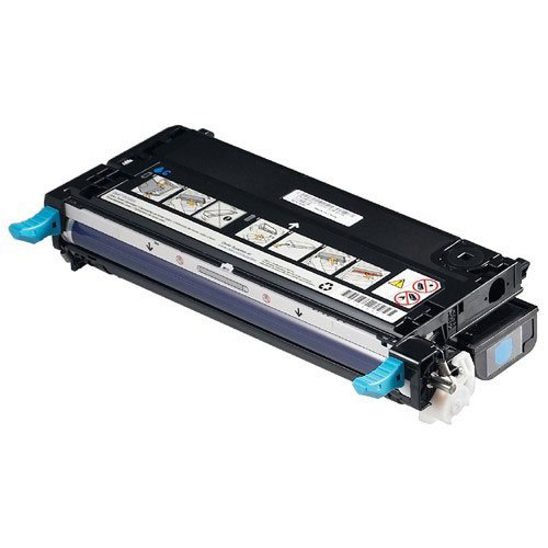 Dell GENUINE Original 3110cn 3115cn Laser CYAN Toner Cartridge P/N : PF029, XG722, 593-10219, HIGH Capacity 8000 Pages