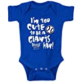 Smack Apparel Los Angeles Baseball Fans. I'm Too Cute (Anti-Giants) Royal Onesie (NB-18M) (Onesie, 12 Month)