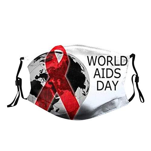1 Piezas Reutilizables Lavables para Adultos con Bolsa de Filtro y Correa de Oreja Ajustable, Sello de Tema Anti-cáncer de SIDA Dibujos