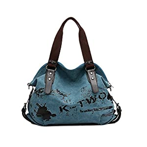 Women's Handbag Casual Vintage Hobo Canvas Daily Purse Shoulder Tote ...