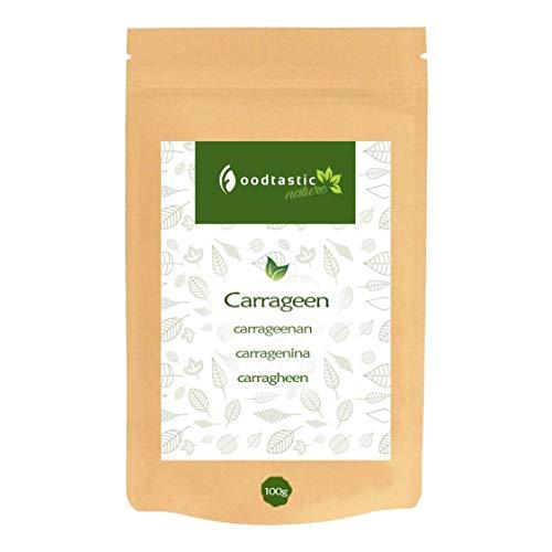 Foodtastic Carrageen 100g, feines Pulver in Lebensmittelqualität, pflanzliches Geliermittel aus Rotalgenzellen, geeignet als veganer Gelatine Ersatz