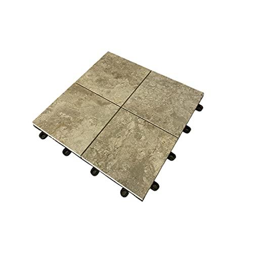 Baldosas de mármol de 30 x 30 cm, para suelo, balcones, terrazas (cuadradas, lisas, pulidas)