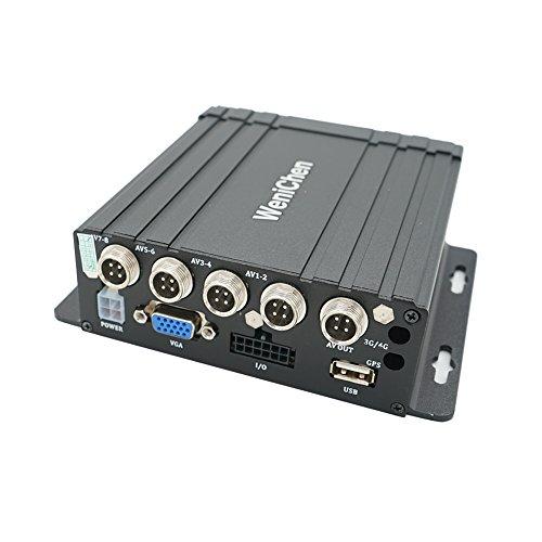 Wen&Cheng Mini 4CH Mobile AHD DVR Registratore di Sorveglianza in tempo Realtime Video/Audio con Telecomando Crittografia per Autobus Veicolo, supporto SD Card fino a 128 GB