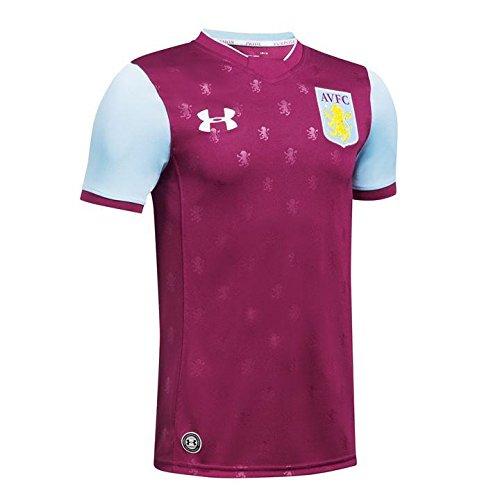 Under Armour 2017-2018 Aston Villa Home Football Soccer T-Shirt Trikot (Kids)