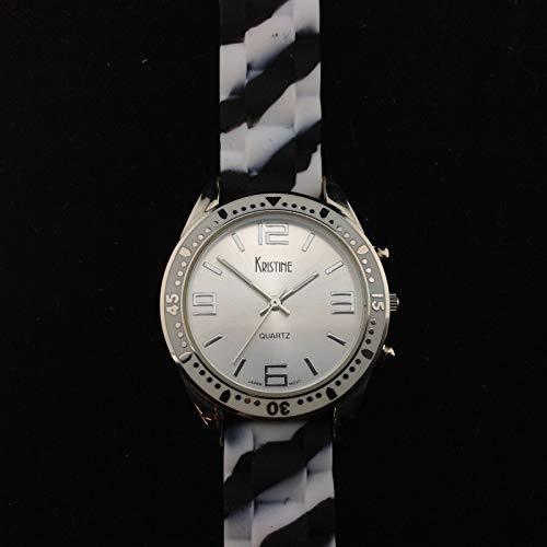 Kristine Japan Movt Reloj de pulsera redondo con esfera plat