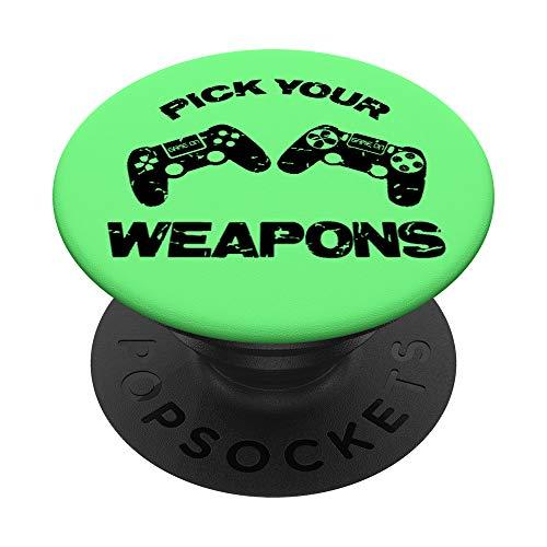 Cute Controller Video Game Player Gaming Videogame Gift PopSockets PopGrip: Agarre intercambiable para Teléfonos y Tabletas