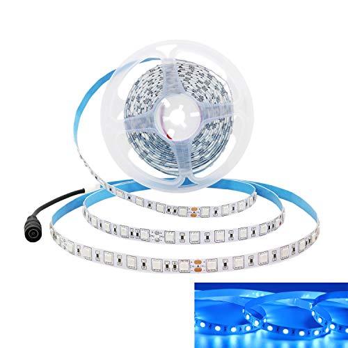 Preisvergleich Produktbild JOYLIT 24V LED Streifen Blau 460-465nm,  5M Flexibler 300LEDs SMD5050 LED Strip,  IP20 Nicht Wasserdicht LED Lichtband