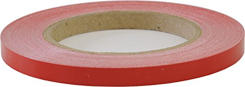 LinearDesigns One Quarter Inch Solid Stripe for Auto Truck Boat - 3mil Vinyl - 1/4' x 50' - Cherry Red