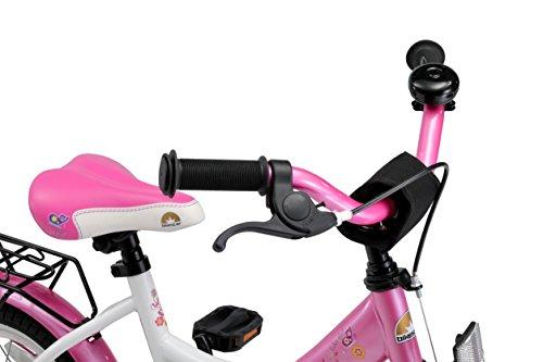 BIKESTAR Premium Sicherheits Kinderfahrrad 12 Zoll für Mädchen ab 3-4 Jahre | 12er Kinderrad Classic | Fahrrad für Kinder Pink & Weiß - 5